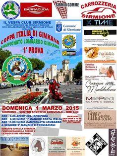 Domenica 1 marzo 2015 il #Vespa Club #Sirmione organizza la Coppa Italia di Gimkana e il Campionato Lombardo di Gimkana @gardaconcierge