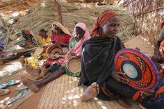 Basket Weaving in Darfur, Sudan.