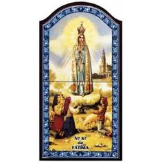 Tiles with the image of Our Lady of Fatima
