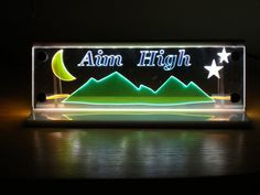 Aim High LED lighted  decoration  room mood by MLSLaserEngraving