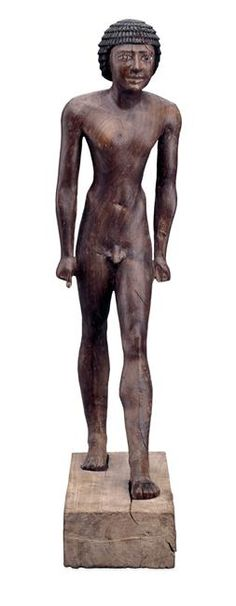 Painted Ebony statue of Meryre Hachetef. Masculine nude. 51cm. Ancient Egypt. 6th dynasty, reign of Pepi I, c. 2300BC. British museum.