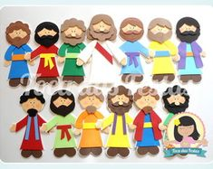 jesus-e-os-discipulos-personagens-biblicos Bible Activities For Kids, Bible Stories For Kids, Bible For Kids, Sunday School Kids, Sunday School Activities, Sunday School Crafts, Bible Story Crafts, Bible School Crafts, Religion