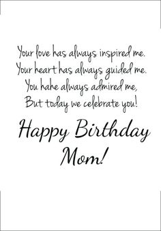 220 Emotional Happy Birthday Mom Quotes and Messages to share with happy birthday mom - Birthdays Birthday Greetings For Mom, Happy Birthday Mom Wishes, Happy Birthday Captions, Happy Birthdays, Happy 30th, Father Birthday Quotes, Birthday Message For Mother, Birthday Quotes For Girlfriend, Birthday Messages