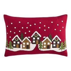 "Winter Solstice 24""x16"" Pillow I am *such* a sucker for villages $49.95"