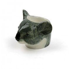 Koala, egg cup, ceramic, breakfast, quail,