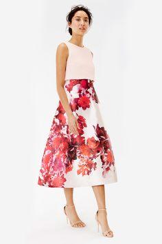 MADISON FLORAL OVERLAYER DRESS