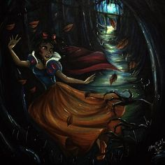 Snow White is finished and I hit 5k followers?!?! #whatislife 😭 I made a goal to myself I would have Snow White in the Haunted Forest done before New Years!! 😭😁😍 I hope everyone likes this adrenalin pumping piece!!! #nofilter, but I did bring the brightness down a bit because of the light reflecting off of the copic markers. #artistproblems #snowwhite #snowwhitefanart #fanart #disney #disneyart #disneyfanart #hauntedforest #illustration #disneyillustration #anxiety #strathmore #copic…