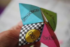 Cootie Catcher Favor de partido