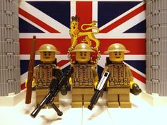 3x WWII British Hampshire Regt. w/ Brodie's, Bren, Lee Enfield, M1A1 & Backpacks