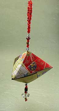 Beaded Origami Ornament