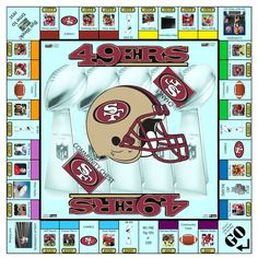 SF Monopoly :) Fun to play with the kids during a game! Sf Niners, Forty Niners, 49ers Fans, Nfl 49ers, Best Football Team, Nfl Football, American Football, San Francisco Giants, Gold Diggers