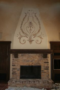 great Tuscan look! Fireplace