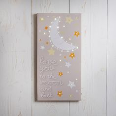 Love You To The Moon Light Up Canvas