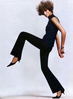 Christy Turlington for US Harper's Bazaar, March 2002, by Greg Kadel