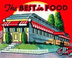 Vintage matchbook cover with diner.