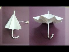How to make a paper umbrella that open and closes-Easy step by step process. - YouTube