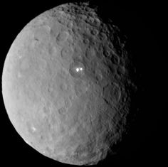 NASA's Dawn spacecraft has returned new images captured on approach to its historic orbit insertion at the dwarf planet Ceres. Dawn will be the first mission to successfully visit a dwarf planet when it enters orbit around Ceres on Friday, March Sistema Solar, Cosmos, Planeta Ceres, Pluto Dwarf Planet, Ceres Planet, Ufo, Asteroid Belt, Planets And Moons, Interstellar