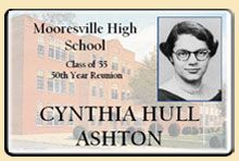 high school reunion nametag