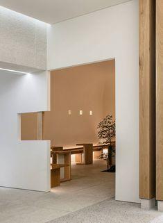 Image 7 of Photograph by Yongjoon Choi Coffee Shop, Cafe Shop Design, Design Café, Berlin, Restaurant Interior Design, White Ceiling, Retail Shop, Furniture Styles, Hospitality Design