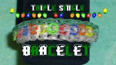 """Just can't wait til' Christmas 2014? Make your very own Triple-Single """"String of Lights"""" Bracelet on your Rainbow Loom®! Follow this step by step video and have one made in no time at all! :) #rainbowloom #rainbowloomineer #rainbowloomlxr #rainbowloombracelet """
