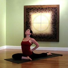 Pigeon Pose - the best pose to help the knees recover from running! The best before & after a run.