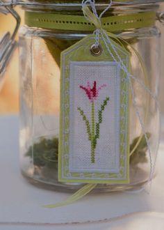 Anhänger -Frühlingsblumen- mit Stickanleitung