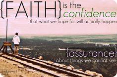 Have faith :)  Love this!