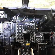"""Cockpit of our F-111. Donated to our Museum by the Royal Australian Air Force. See it in our 2nd hangar, Hangar 79. Read about it on our site,…"""