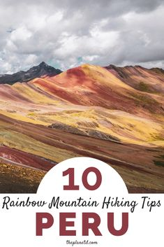 10 tips for hiking to Rainbow Mountain in Peru. Virtually undiscovered until 2015 this natural creation is a must visit while in South America. A mecca for those traveling in Cusco and the Andes Mountains here's everything you need to know! Beaches In The World, Places Around The World, Around The Worlds, Great America, Latin America, Visit Brazil, Mountain Pictures, Andes Mountains, Peru Travel