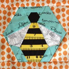 Bee block for my #circle7 quilt from the badskirt tutorial | Flickr - Photo Sharing!
