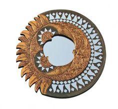 Spiegel - Sonne/Mond Feng Shui, Hot House, Oriental, Decorative Plates, Mirror, Design, Home Decor, Interior, Solar Lunar