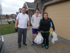 Bruce and his son Brock helping with deliveries Skylar Surrey