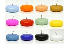 Small Floating Candles Round Disks - 12 Ct 32 Colors - Barnloftcandles.com