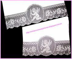 Risultati immagini per miria croches e pinturas Thread Crochet, Filet Crochet, Knit Crochet, Crochet Borders, Needlework, Embroidery, Knitting, Crafts, Applique Towels