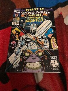 What If Silver Surfer Possessed the Infinity gauntlet Marvel comics may 1993 Ms Marvel, Captain Marvel, Marvel Comics, Thanos Infinity Gauntlet, The Infinity Gauntlet, Comic Books For Sale, Dark Phoenix, Silver Surfer, Fantastic Four