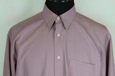 BUGATCHI UOMO Mens Long Sleeve Brown Check Shirt sz L Large #BugatchiUomo #ButtonFront
