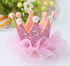 Hot selling !! Multicolors Lace Crown With Pearl Hairwear
