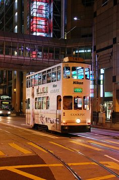 HK Tram by the HSBC BankArielle Gabriel's new book is about miracles and her everyday life suffering financial ruin in Hong Kong The Goddess of Mercy & The Dept of Miracles, uniquely combines mysticism and realism *