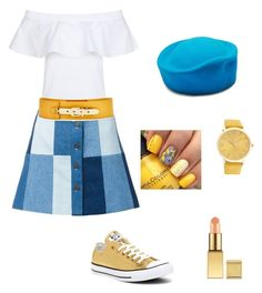 """""""sweet"""" by estherbc on Polyvore featuring N°21, Ines de la Fressange, Nine to Five and Converse"""