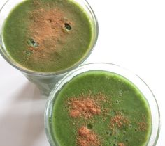 Groene detox smoothie met spinazie