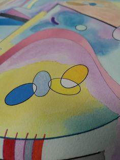 Acrylic Art, Watercolor, Studio, Pen And Wash, Watercolor Painting, Watercolour, Studios, Watercolors, Watercolour Paintings