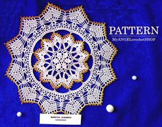 Pattern Crochet Lace Doily Vintage Round Doily Table centerpiece Home Room Decor Anniversary gift book pdf Rug modern crochet tutorial Lace Doilies, Crochet Doilies, Crochet Lace, Crochet Stitches, Crochet Hooks, Crochet Patterns, Round Table Centerpieces, Thick Yarn, Modern Crochet