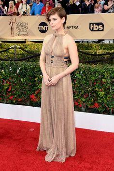 SAG Awards 2016. Kate Mara in Valentino