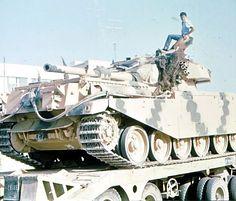 Jordanian Centurion tank captured by Israeli troops during Six Day War