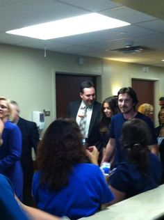 Christian Bale comes to Aurora to visit shooting victims