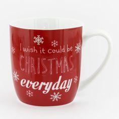 Relatert bilde Christmas Farm, Mugs, Tableware, Mug Cup, Hot Chocolate, Wish, Festive, Kitchen, Red And White