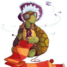 черепаха рисунок бабушка вязание / 418431_original