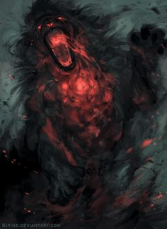 70 Ideas Fire Monster Concept Art Deviantart For 2019 Dark Fantasy Art, Fantasy Artwork, Fantasy World, Dark Art, Demon Artwork, Dungeons And Dragons, Arte Horror, Horror Art, Creature Concept