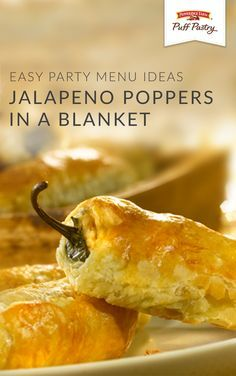Add a spicy kick to a classic appetizer recipe with these Jalapeño Poppers in a Blanket. This party-worthy dish is baked, not fried, and it uses Pepperidge Farm® Puff Pastry Sheets for that classic crispy texture that you know and love. Add bacon, cream cheese, cheddar jack cheese, and garlic to complete these bite-sized treats.