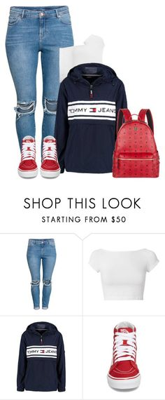 """❤️‼️"" by raquelregina ❤ liked on Polyvore featuring H&M, Helmut Lang, Tommy Hilfiger, Vans and MCM"